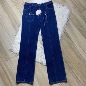 See By Chloe Jeans - NWT See By Chloe Tassel Boot Cut Jeans Ink Marine